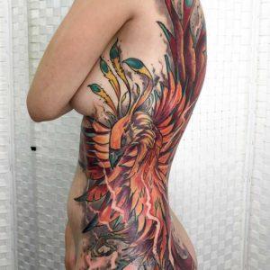 Sketchy Asia Phönix Tattoo vom surface Tattoo studio münchen