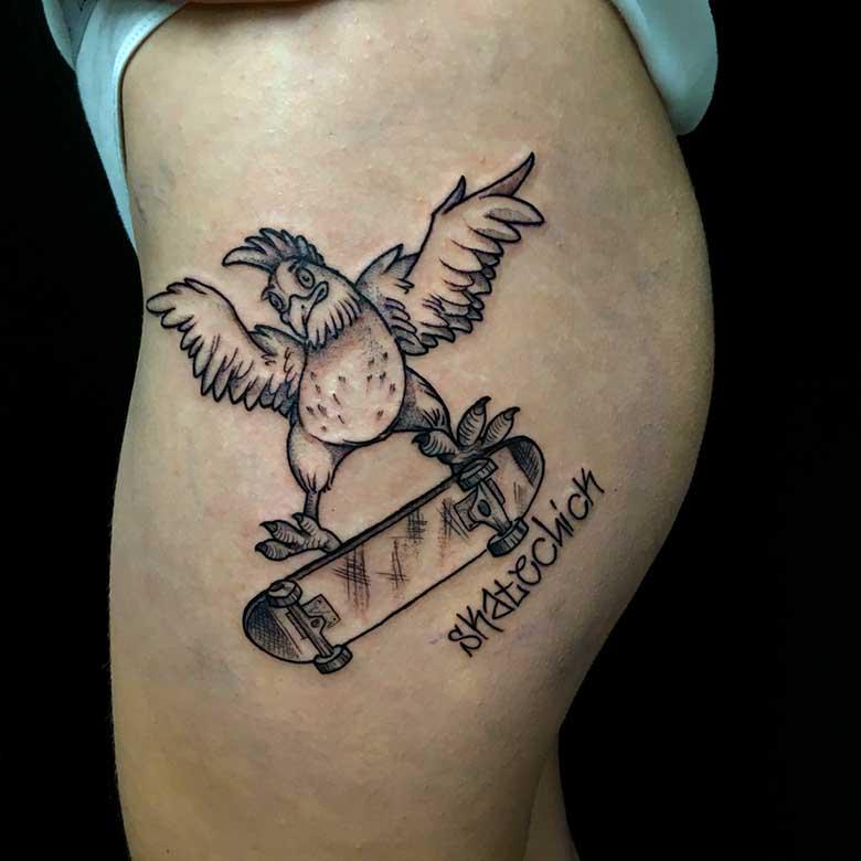 Crazy Skater Tattoo vom surface Tattoo studio münchen