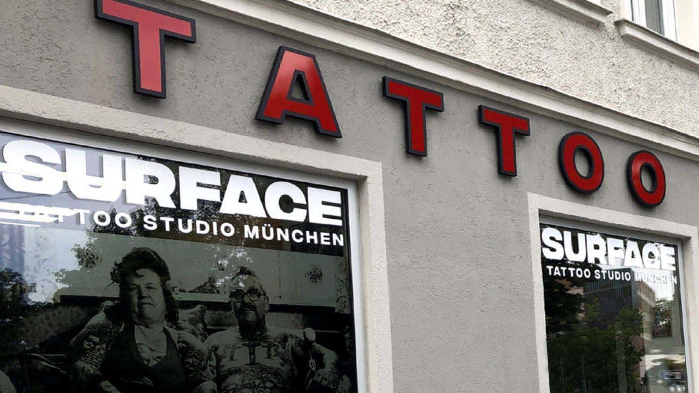 Surface Tattoo Studio München Front vom surface Tattoo studio münchen