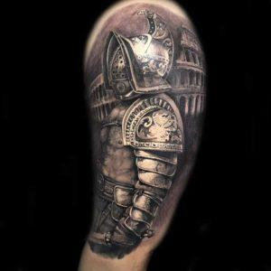 Realistic Gladiator vom surface Tattoo studio münchen
