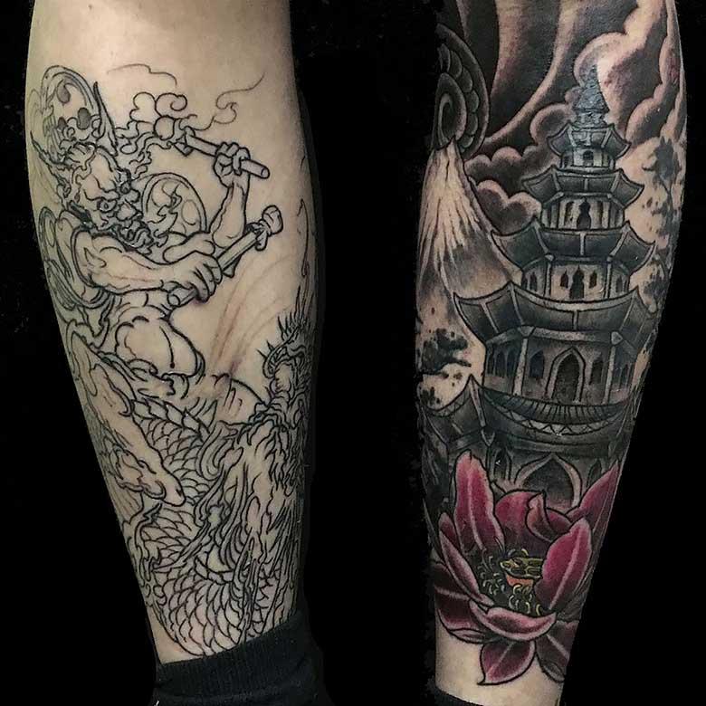 asia oni und tempel tattoo münchen