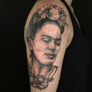 sketchy frida kahlo tattoo münchen vom surface Tattoo studio münchen