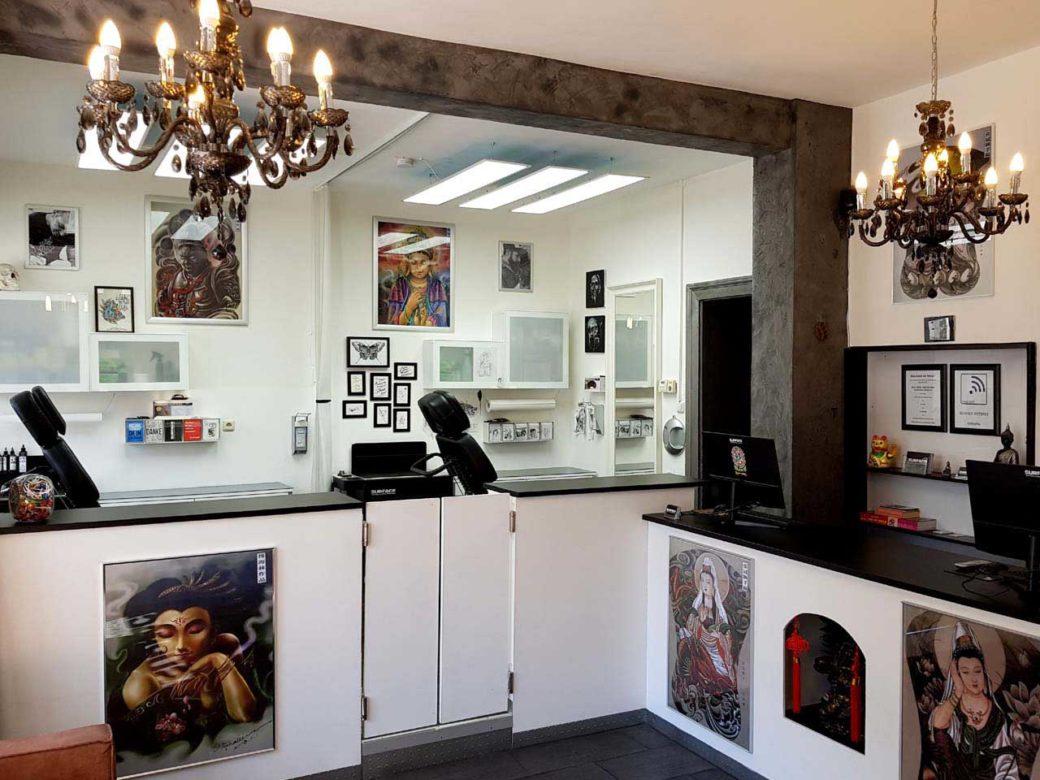 Tattoo Studio Schwanthalerhöhe-Westend thekenbereich