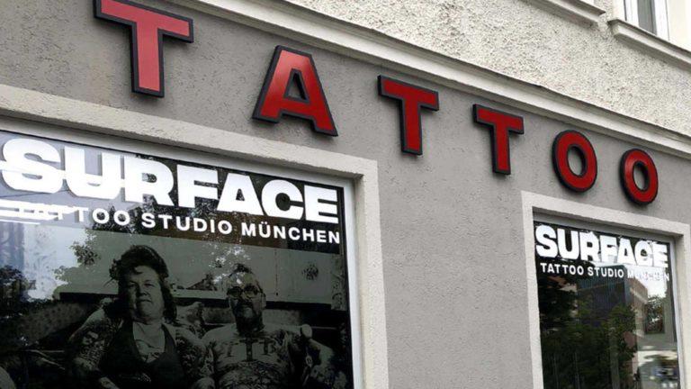 Surface-Tattoo-Studio-Erding Aussenansicht